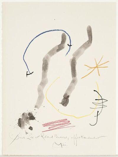 Joan Miró, 'Quelques Fleurs pour des Amis: Penrose. (#27)', 1964