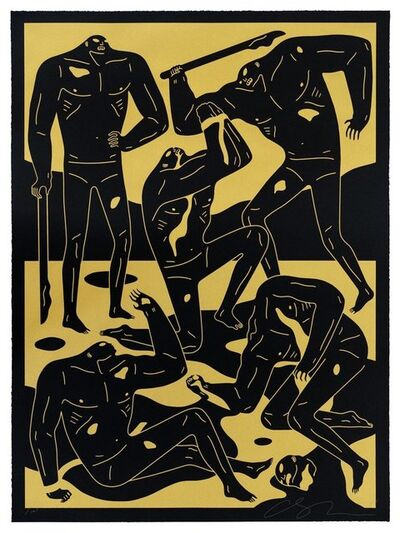 Cleon Peterson, 'Mercenaries (Black)', 2018