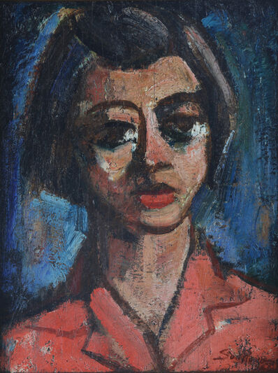 Cheong Soo Pieng, 'Portrait of a Young Girl', 1948
