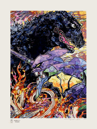 Takashi Murakami, 'Homage to Director Hideaki Anno: Evangelion + Godzilla Resurgence', 2019
