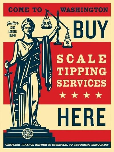 Shepard Fairey, 'Scale Tipping Services', 2014