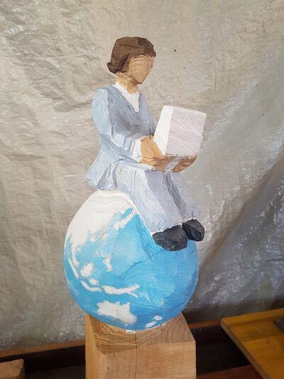 Karin Hofer, 'Sitting on globe', 2018