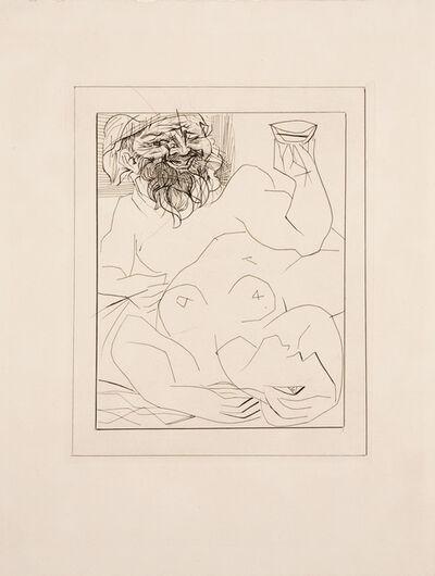 Pablo Picasso, 'BACCHUS ET FEMME NUE ÉTENDUE B284', 1934