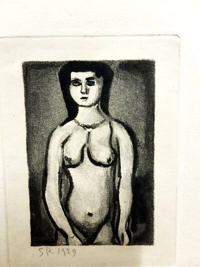 "Georges Rouault, 'Original Etching ""Ubu the King V"" by Georges Rouault', 1955"