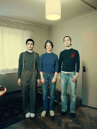 David Stewart, 'Thomas family standing on parquet floor', 2009