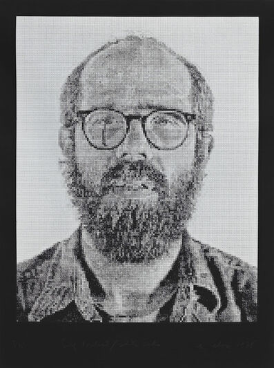Chuck Close, 'Self-Portrait/White Ink', 1978