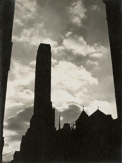 Dorothy Norman, 'Rockefeller Center in Silhouette , New York City, NY', 1938/1938