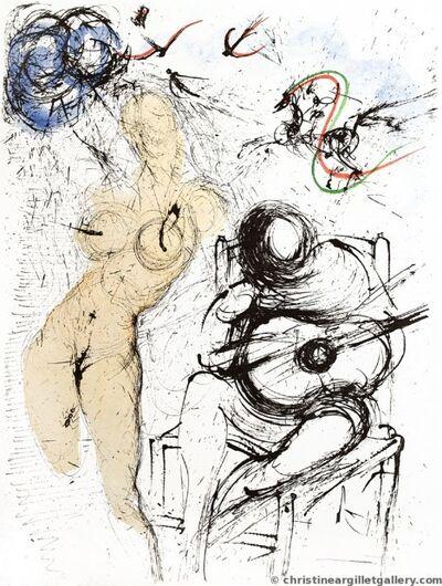 "Salvador Dalí, 'Apollinaire ""Woman with Guitar""'"