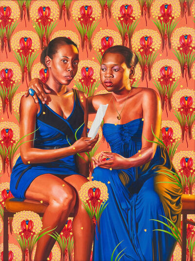 Kehinde Wiley, 'The Sisters Zénaïde and Charlotte Bonaparte', 2014