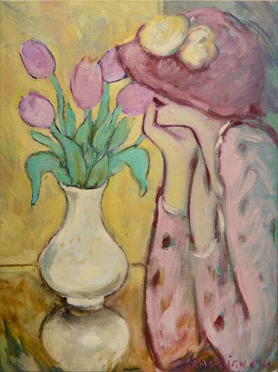 Jean-Pierre Cassigneul, 'Les tulipes mauves', 1975