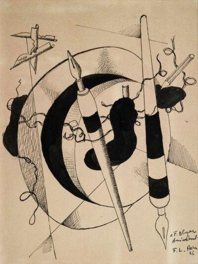 Fernand Léger, 'Composition au porte plumes et crayon', 1946