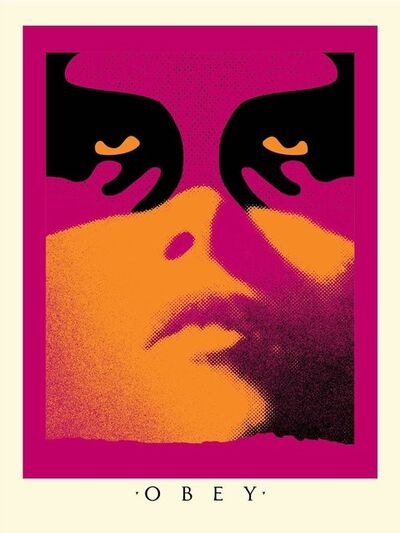 Shepard Fairey, 'Obey Shadowplay - Orange', 2019