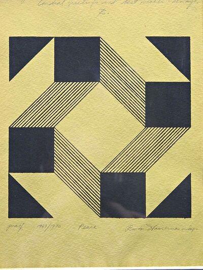 Burton Wasserman, 'Peace, Dedicated to art writer Eleanor Marko and her husband Ted', 1969-1970
