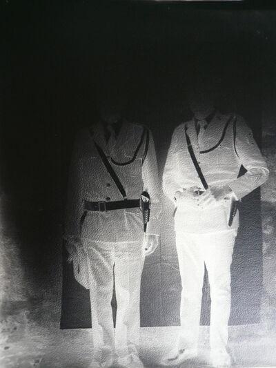 Milagros de la Torre, 'Under the black sun (Policemen) ', 1991-1993 (Print   Copia 2015)