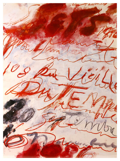 Cy Twombly, 'untitled Exhibition Poster', 1986