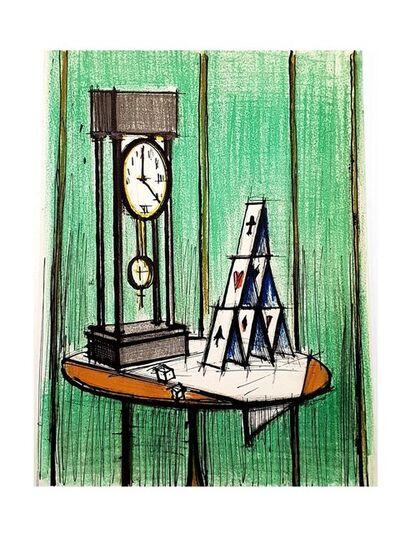 Bernard Buffet, 'Bernard Buffet - Card Castle - Lithograph by Charles Sorlier', 1979