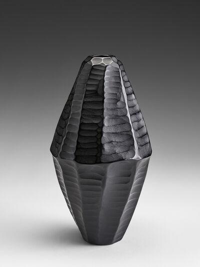Massimo Micheluzzi, 'untitled black carved', 2014