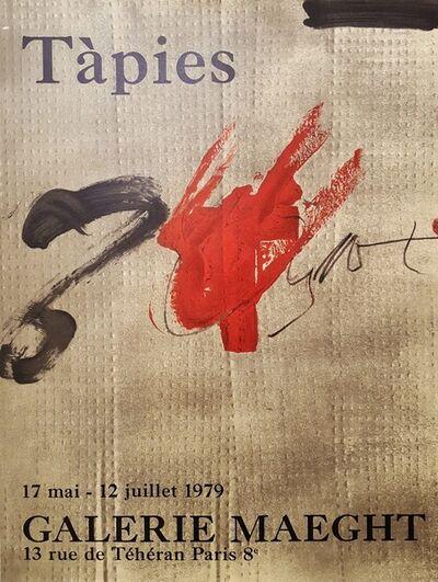 Antoni Tàpies, 'Galerie Maeght', 1979