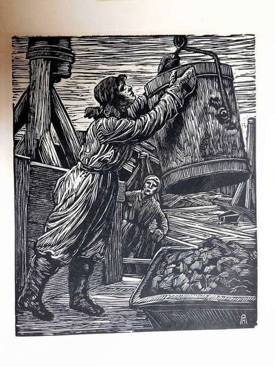 Albert Abramovitz, 'Wpa Woman Laborer woodblock print', 1930-1939