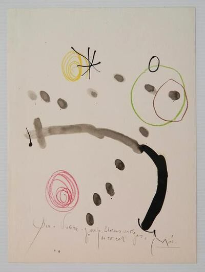 Joan Miró, 'Quelques Fleurs pour des amis #2: Artigas', 1964