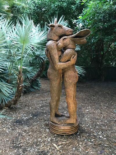 Sophie Ryder, 'Hugging', 2010