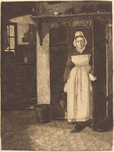 François Bonvin, 'The Basement Door (La Sortie de Cave)', 1871