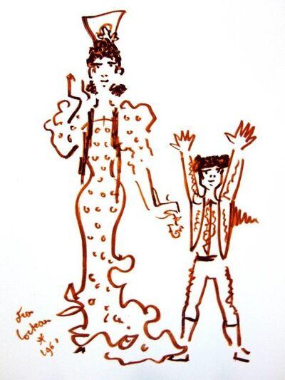 "Jean Cocteau, 'Original Lithograph ""Mother and Son"" by Jean Cocteau', 1965"