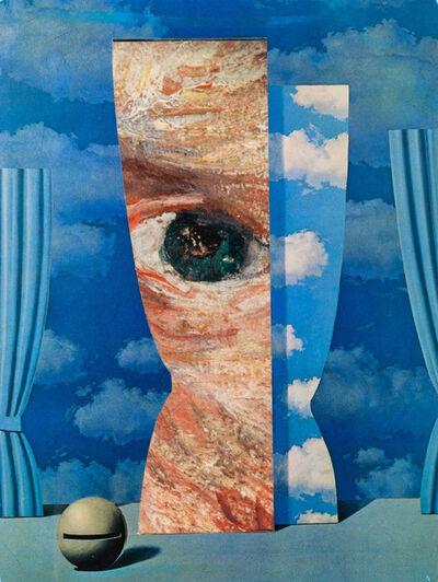 Jiri Kolar, 'Fragment of Van Gogh's self-portrait on a Magritte', 1989