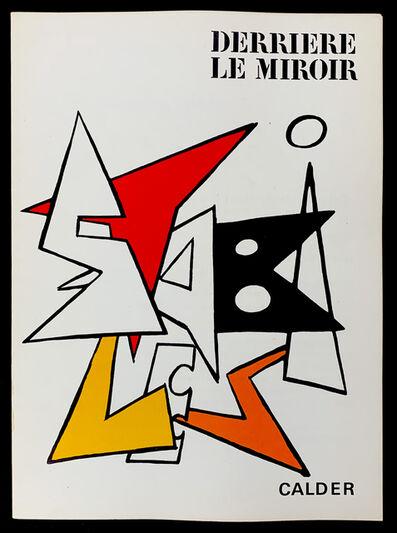 Alexander Calder, 'Derriere Le Miroir No. 141 Cover', 1963