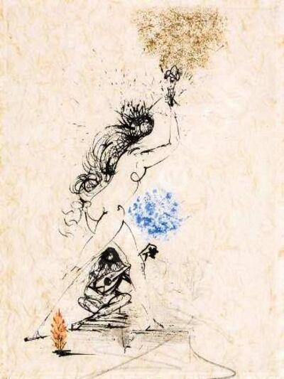 Salvador Dalí, 'La Felle au Flambeau (Girl with a Torch)', 1968