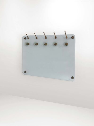 Vitrex, 'A coat hanger with a tempered and cut glass structure', 1950 ca.