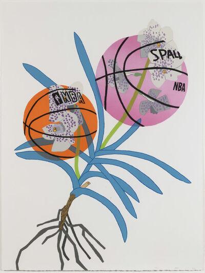 Jonas Wood, 'Double Basketball Orchid 2 (State II)', 2020