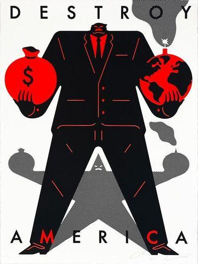 Cleon Peterson, 'Destroy America (White)', 2020