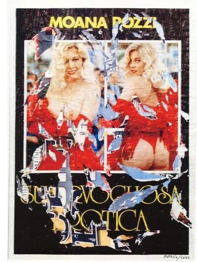 Mimmo Rotella, 'Erotic', executed in 2002