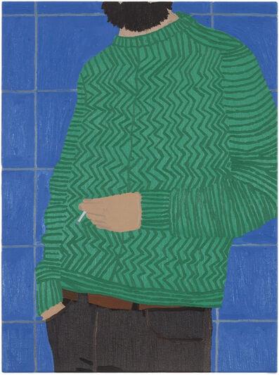 Andrea Carpita, 'Untitled (blue wall)', 2020