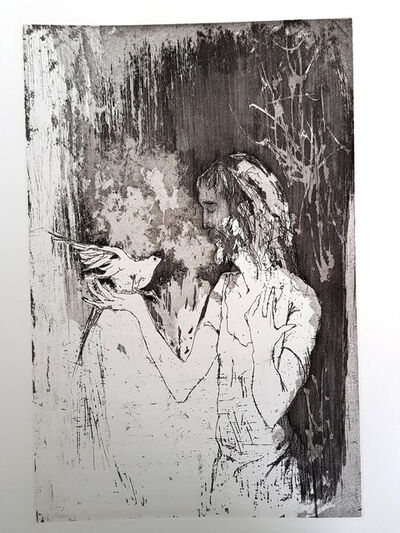 "Jean Jansem, 'Original Etching ""Saint"" by Jean Jansem', 1974"