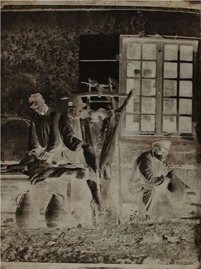 Baron Louis-Adolphe Humbert de Molard, 'Men Dressing a Hog', ca. 1846