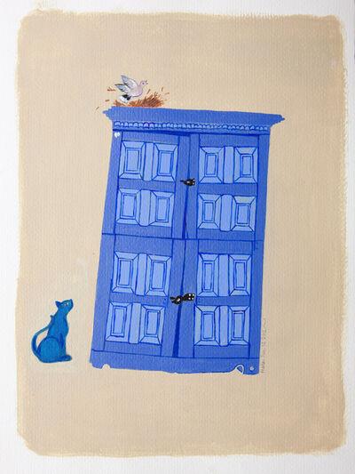 Mala Marwah, 'Blue Cat', 2012