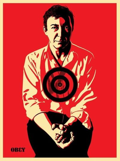 Shepard Fairey, 'Jasper Johns Red', 2009