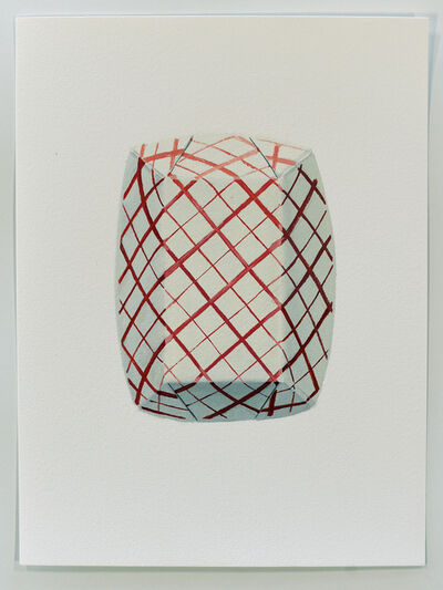 Brad Nelson, 'Red Check Paper Food Tray', 2019