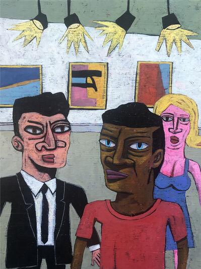 David Lambert, 'Three People Looking at a Painting ', 2019