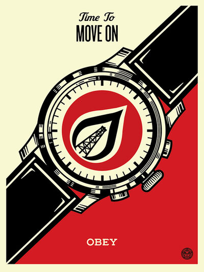Shepard Fairey, 'Time to Move on', 2015