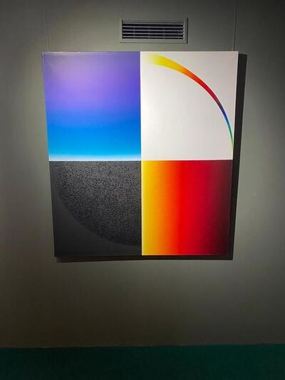 Peter Kalkhof, 'Space and Colours - The Centre', 1975