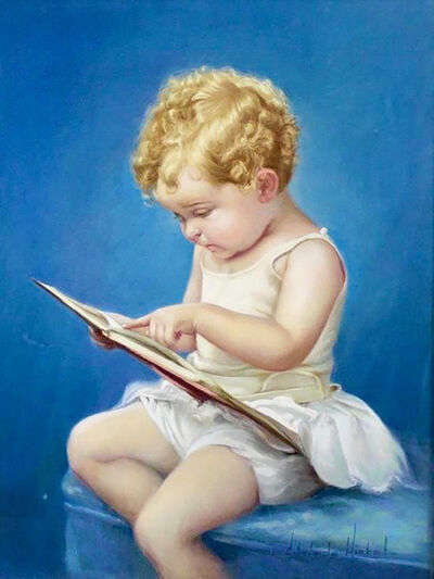 Adelaide Hiebel, 'Young Girl Reading a Book', 20th Century