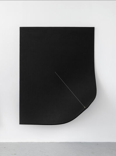 Naama Tsabar, 'Work On Felt (Variation 10) Black', 2016