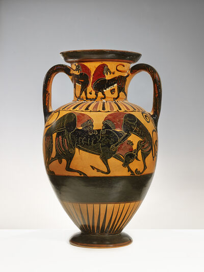 Greek vase painter, 'Greek (Chalcidian) neck amphora', ca. 530 BCE
