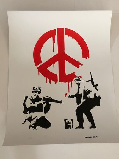 After Banksy, 'CND Soldiers (Red)', 2016