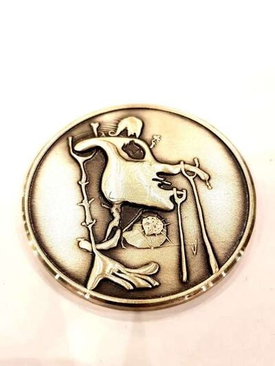 "Salvador Dalí, 'Silver Medal ""The Last Comer of The Last Planet"" by Salvador Dali', 1979"