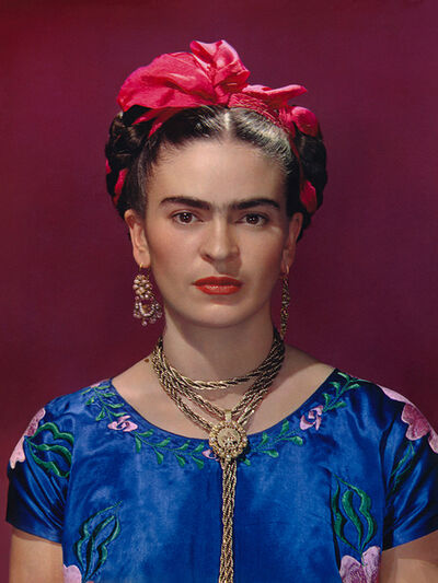 Nickolas Muray, 'Frida Kahlo in Blue Blouse', 1939