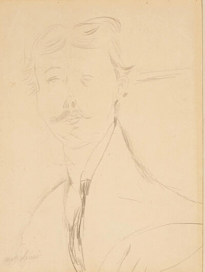 Amedeo Modigliani, 'Portrait d'un Jeune Honne', 1917